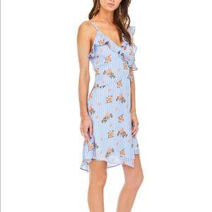 Astr wrap floral dress